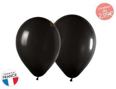 Ballons de baudruche noirs