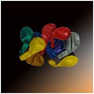 Ballons métal multicolores