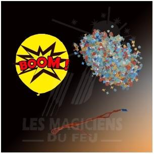Ballons à confettis explosif