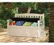 Coffre-banc de jardin en résine