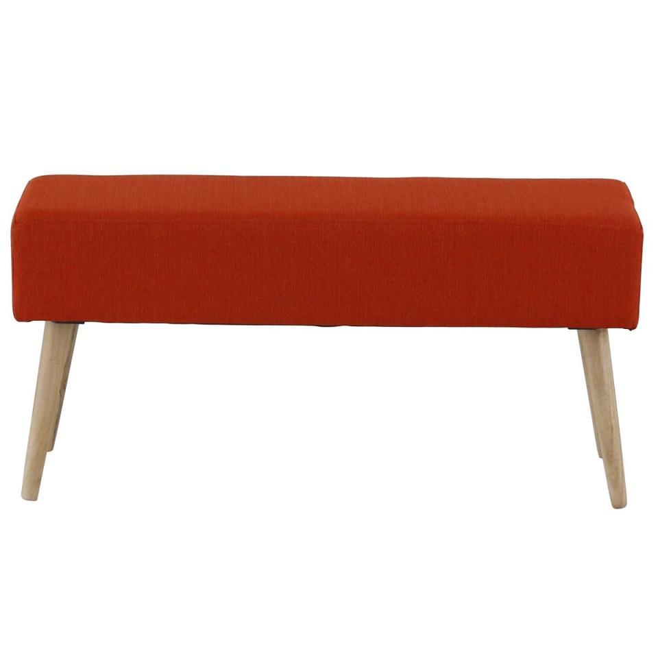 Banc en tissu rouge 100 cm