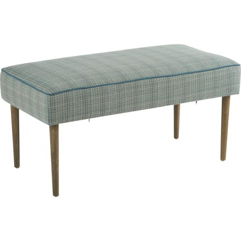 Banc de lit tissu chiné Turquoise