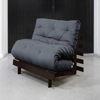 Roots 90 Wengué futon grey
