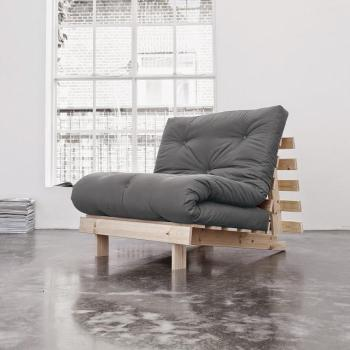 Roots 90 naturel futon gris