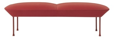 Oslo - Banc - rouge Steelcut