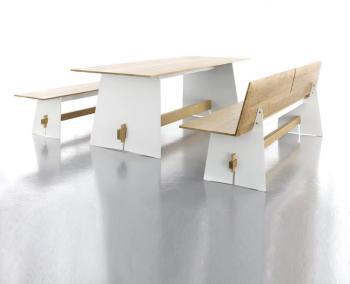 Tension Wood - Set - blanc
