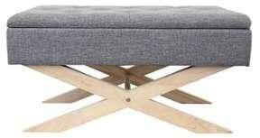 Bout de lit capitonné en bois