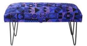 Banquette design bleu coloré