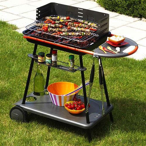 barbecue charbon 12 personnes somagic qooka a540. Black Bedroom Furniture Sets. Home Design Ideas
