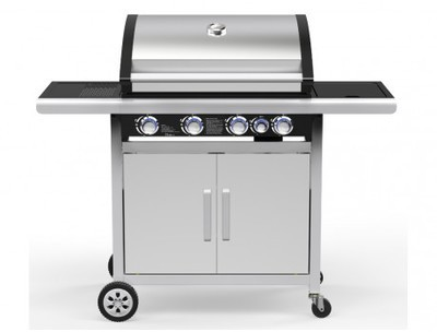 Barbecue à gaz en acier epoxy