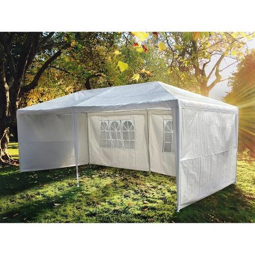 chapiteau ctente de jardin pergola 3x6m aginum toile blanche. Black Bedroom Furniture Sets. Home Design Ideas