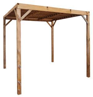 Pergola ChokoPoteau en bois