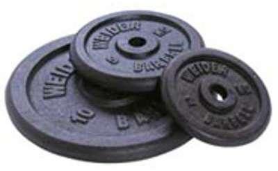 Barre et poids Weider Disque