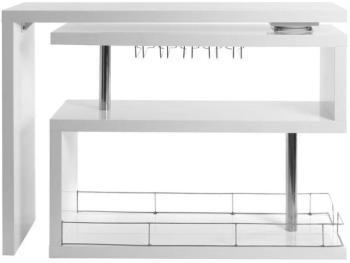Bar design laqué blanc amovible