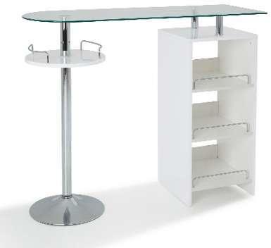Table Bar avec rangement coloris