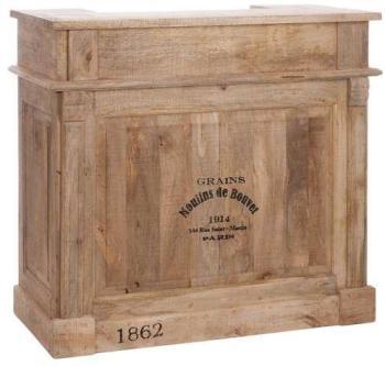 Bar 2 tiroirs bois naturel