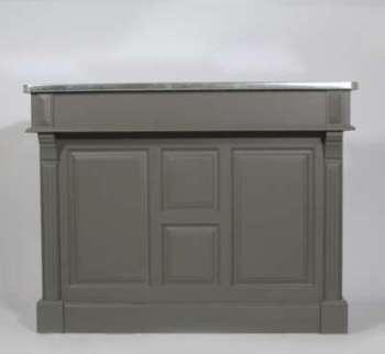 Meuble bar 140cm plateau zinc