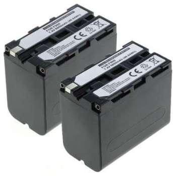 2x Batterie Sony HDR-FX1000E