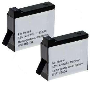 2x Batterie GoPro Hero 4 Plus