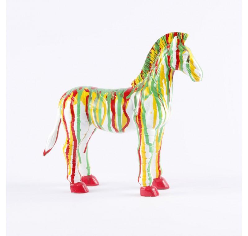 Figurine Zèbre Pop Art Multicolore