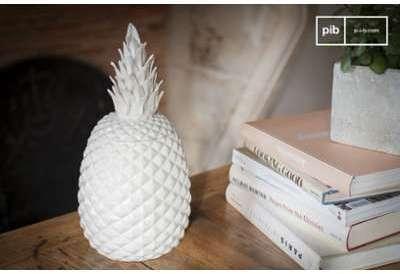 Pot en porcelaine Ananas