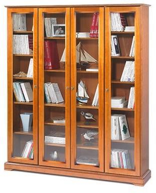 Bibliothèque 4 portes vitrées