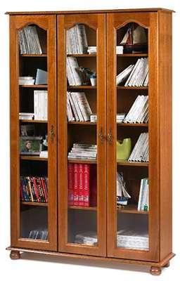 Bibliothèque 3 portes vitrées