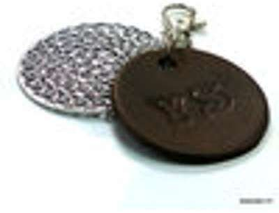 ab600856965d Porte-clé - bijou de sac cuir personnalisée INITIALES