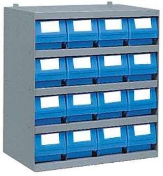 Casier 16 bacs tiroirs plastique