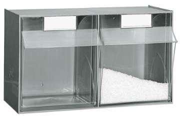 Bloc 2 tiroirs en plastique