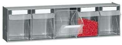 Bloc rangement 5 tiroirs plastiques
