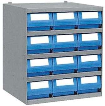 Casier 12 bacs tiroirs plastique