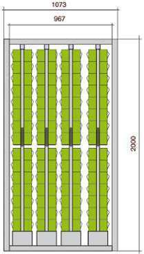 Meuble stockage 120 blocs