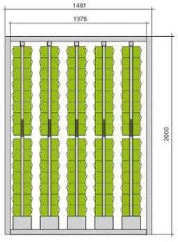 Meuble stockage 150 blocs