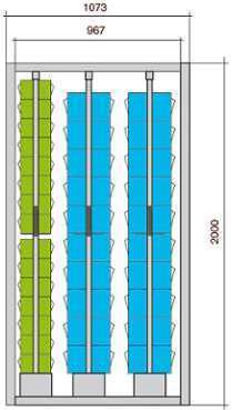 Meuble stockage 70 blocs tiroirs