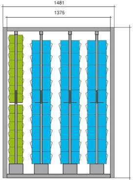 Meuble stockage 90 blocs tiroirs