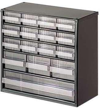 Bloc rangement avec 16 tiroirs