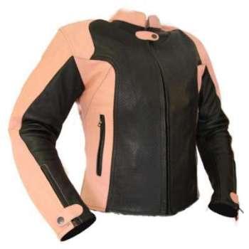 Kc021 Blouson moto cuir FEMME