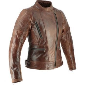 Blouson cuir moto femme Soubirac