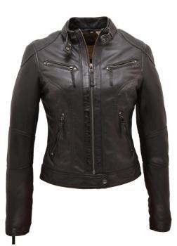 Blouson cuir femme noir oakwood