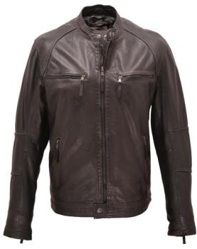 Blouson cuir homme noir redskins