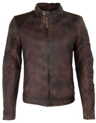 Blouson cuir homme marron
