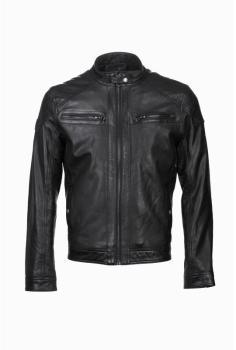 Blouson cuir homme noir 100880