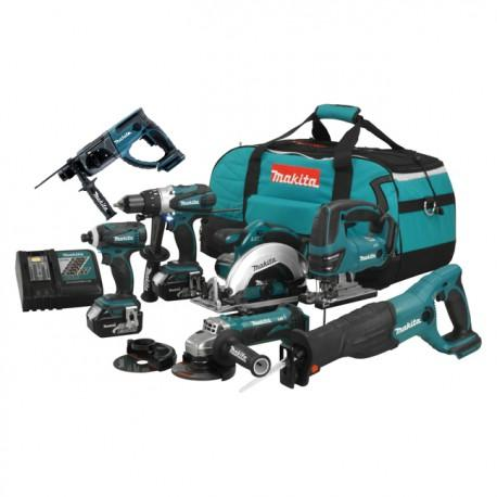 PACK 8 OUTILS MAKITA DLX800T