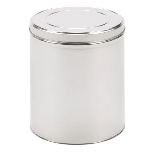 Boîte métallique ronde à couvercle