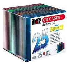 Pack 25 boîtiers CD slim cristal