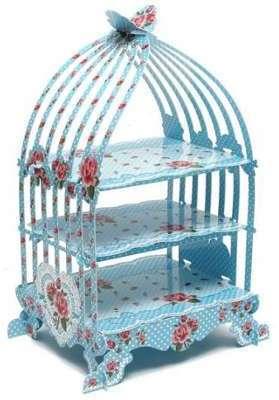 Présentoir cage à oiseaux