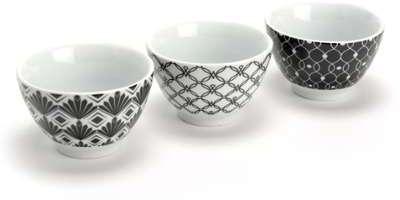 Coffret de bols en porcelaine