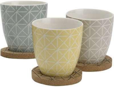 Coffret 3 mugs sous tasses