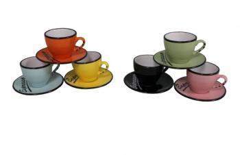 Set 6 tasses et sous tasses